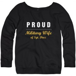 Custom Name/Rank Military Wife