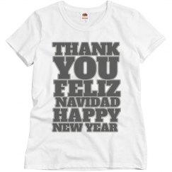 Happy new year Felix navidad thank you