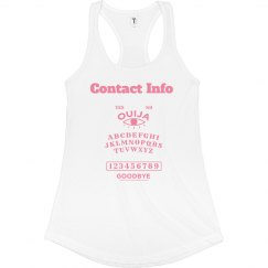 Contact Info Pink Tank