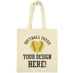 Custom Softball Mom Tote Bags