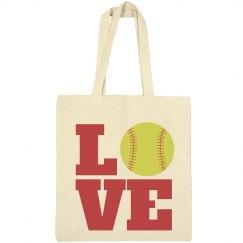 Love The Sport Softball Mom