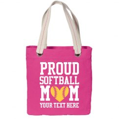 Proud Softball Mom Custom Text