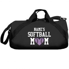 Custom Softball Mom Overnight Bag