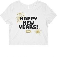 Happy New Years Custom Date Top