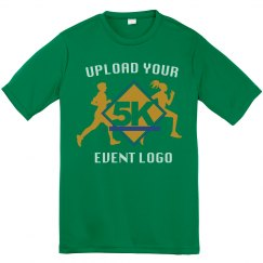 Event Logo Upload Custom Youth Performance Tee