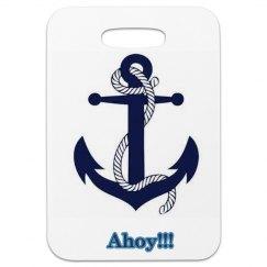 Ahoy luggage tag