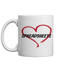 Love Spreadsheets Mug