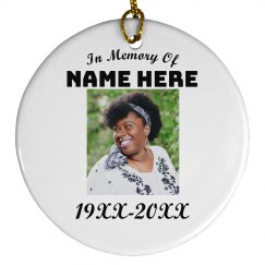 Custom Memorial Ornament
