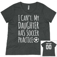 Plus Sized Daughter's Soccer Practice