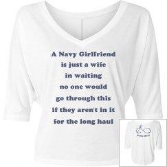 Navy wife in waiting tee