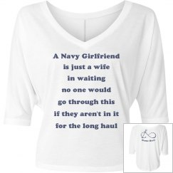 Navy wife in waiting tee