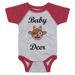 Baby Deer Custom Christmas Pajamas Shirt
