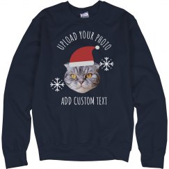 Santa Pet Custom Photo Upload Sweater