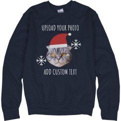 Custom Photo Upload Holiday Pet Sweater