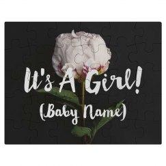 It's A Girl Pregnancy Announcement