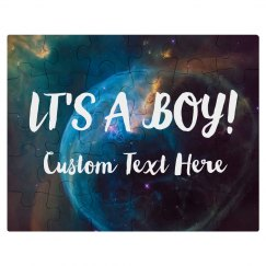 It's A Boy Custom Baby Announcement