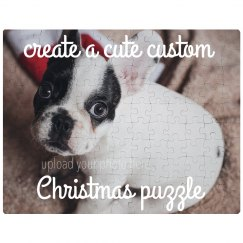 Custom Cute Xmas Pet Puzzle