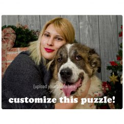 Custom Pet Christmas Puzzle