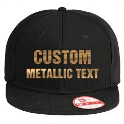 Custom Text Design Metallic Print