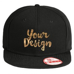 Custom Metallic Script Text Hats