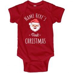 custom santa babys 1st christmas