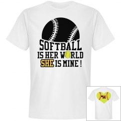 Softball is her world