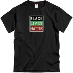 Black tee w/black, red, & green graphic