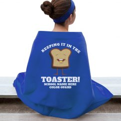 Funny Color Guard Keep It In The Toaster Blanket