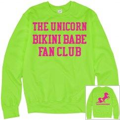 Unicorn Fan Club Sweatshirt - Neon Green/Neon Pink
