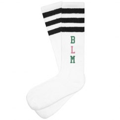 BLM Socks Pink and Green