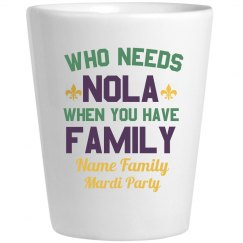 Mardi Party Family Shot Glass