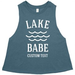 Lake Babe Custom Crop Vacation Tank