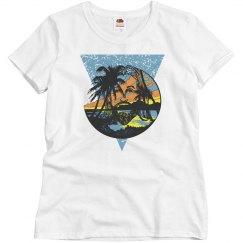 Beach Jesus Women's Tee Blue