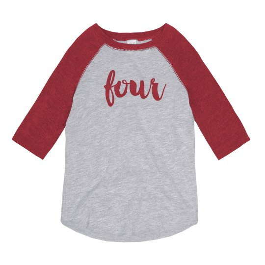 Trendy 4th Birthday Shirt Youth Vintage 3 4 Sleeve Raglan T