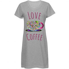 Colorful Prismatic Hearts Love Coffee Cup