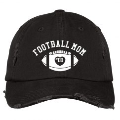 Custom Football Mom Distressed Hat