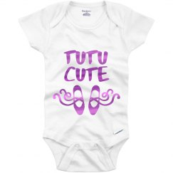 Metallic Tutu Cute Onesie