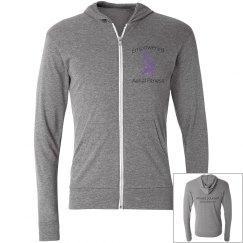 Empowered logo zip hoodie