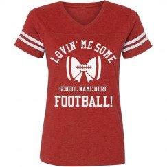 Football Mom Bow Shirt