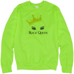 Black queen neon sweatshirt