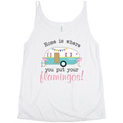 Home & Flamingos Flowy Tank