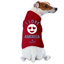 July 4th Emoji Dog