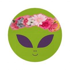 Cute Alien With Flower Crown