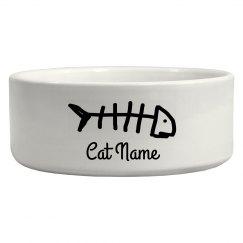 Customizable Cat Bowl