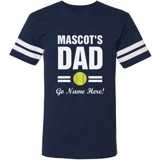379d258d8 Custom Softball Team Dad Unisex Vintage Sports T-Shirt