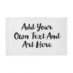 Add Text And Art To This Rug!