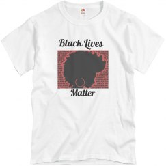 White tee w/black & red graphic