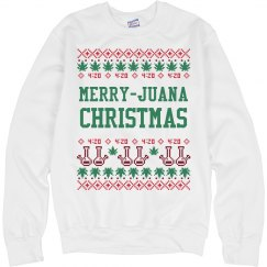 Cannabis Christmas Ugly Sweater