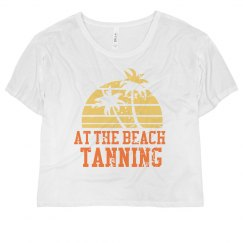 At the Beach Tanning Tee