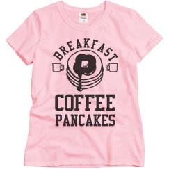 The Perfect Breakfast Includes Coffee And Pancakes